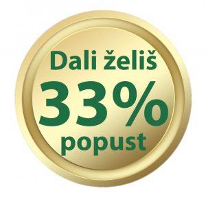 33% popust